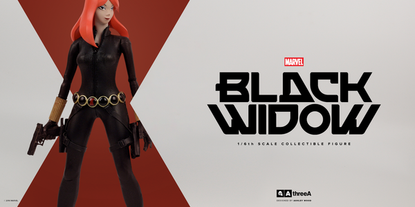 Marvel x ThreeA BLACK WIDOW 1/6th Scale Collectible Figure Designed by Ashley Wood PREORDER - Tenacious Toys® - 2