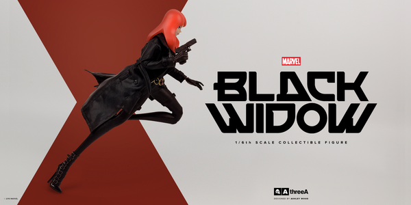 Marvel x ThreeA BLACK WIDOW 1/6th Scale Collectible Figure Designed by Ashley Wood PREORDER - Tenacious Toys® - 3