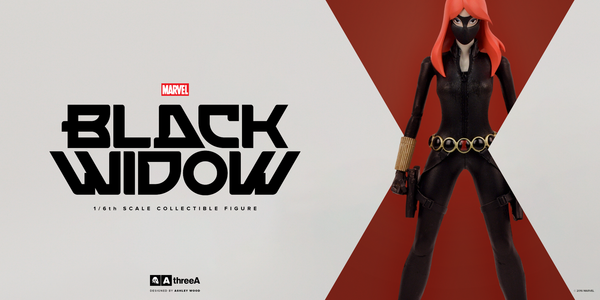 Marvel x ThreeA BLACK WIDOW 1/6th Scale Collectible Figure Designed by Ashley Wood PREORDER - Tenacious Toys® - 4