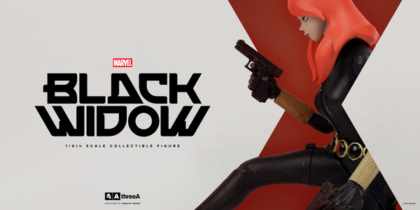 Marvel x ThreeA BLACK WIDOW 1/6th Scale Collectible Figure Designed by Ashley Wood PREORDER - Tenacious Toys® - 5