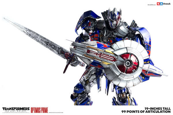 Transformers The Last Knight OPTIMUS PRIME Premium Scale 19-inch Collectible by Hasbro x ThreeA PREORDER