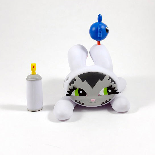 Bunny Kitty White 7-inch vinyl figure by Dave Persue 3DRetro Vinyl Art Toy Tenacious Toys®