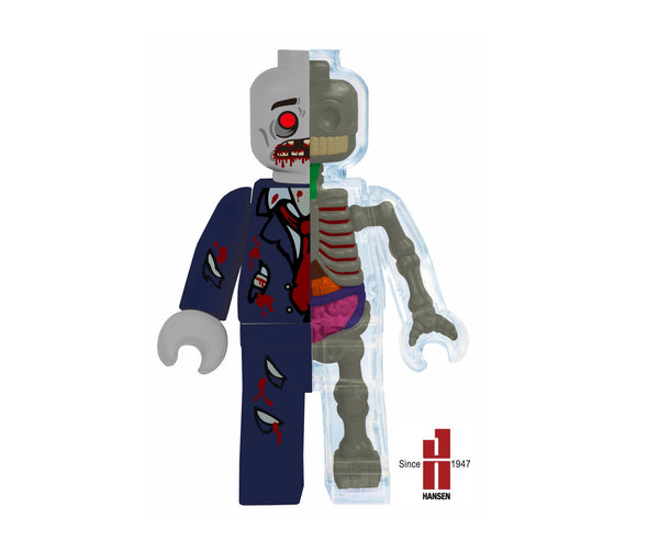 Jason Freeny 5-inch Zombie Brick Man 4D Anatomy Model PREORDER