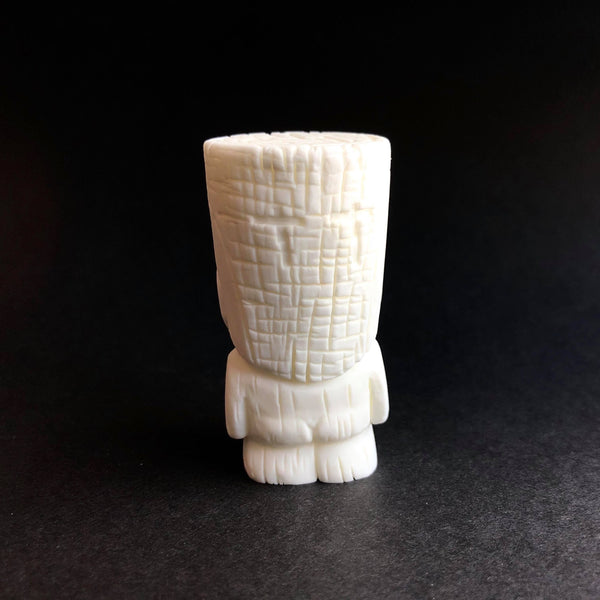 Tenacious Tiki 2-inch DIY White Resin Figure by Mike NEMO Mendez Tenacious Toys® Resin Tenacious Toys®