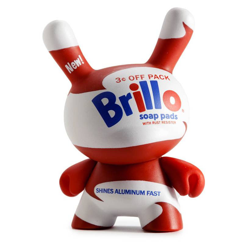 Andy Warhol White Brillo 8-inch Masterpiece Dunny Vinyl Figure by Kidrobot - Tenacious Toys® - 1