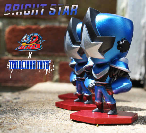 "Bright Star Cobalt Armor Edition 3"" resin figure by The 3D Hero The 3D Hero Resin Tenacious Toys®"
