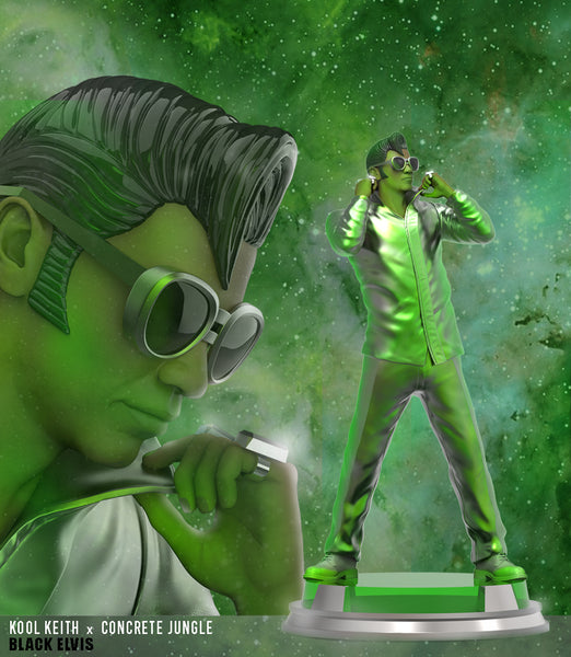 Kool Keith Black Elvis 12-inch resin collectible statue by Concrete Jungle
