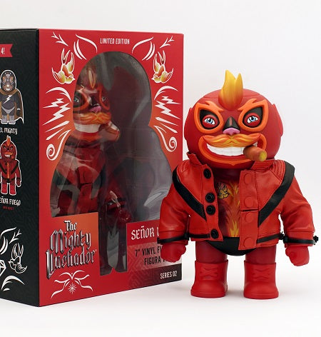 Señor Fuego with Jacket 7-inch vinyl figure by Carlos Flores
