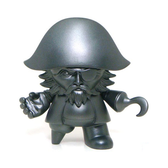 Jon-Paul Kaiser Captain Sturnbrau Pieces of Eight Silver Black Edition 5-inch Mini Qee vinyl figure by Toy2R Toy2R Vinyl Art Toy Tenacious Toys®
