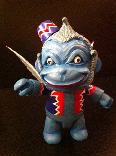 "Mr. Den Flying Blue Monkey 8"" custom Qee - Tenacious Toys® - 1"