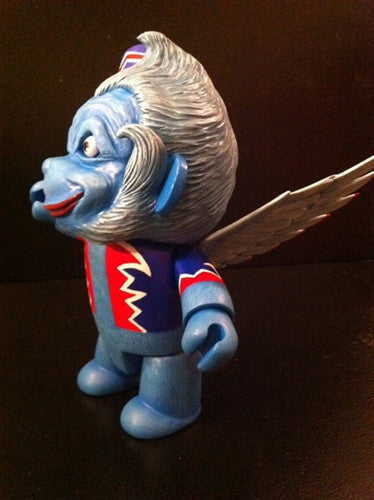 "Mr. Den Flying Blue Monkey 8"" custom Qee - Tenacious Toys® - 2"