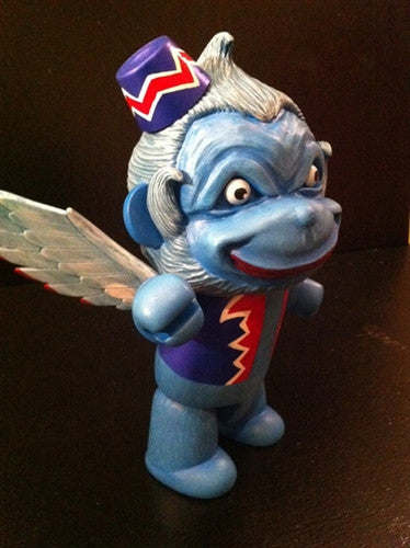 "Mr. Den Flying Blue Monkey 8"" custom Qee - Tenacious Toys® - 3"