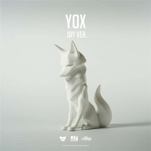 YOX DIY White 11cm sofubi vinyl figure by JT Studio