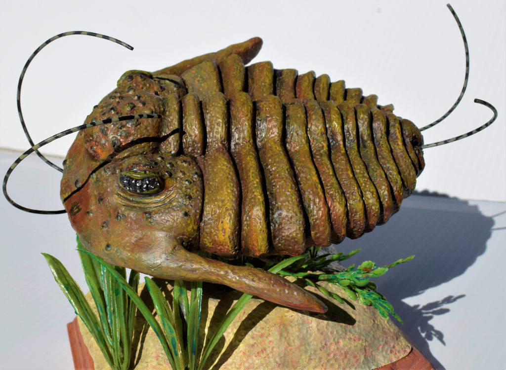 Trilly the Trilobite Prehistoric Dinosaur Painted Living Diorama Resin Figure
