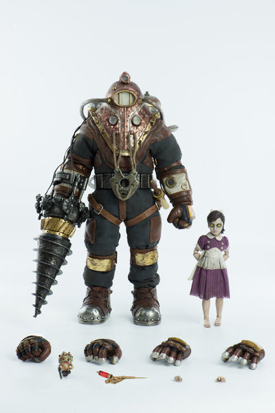 BIOSHOCK 2 Subject Delta & Little Sister 1/6th Scale Collectible Figure DELUXE Set by Three Zero PREORDER