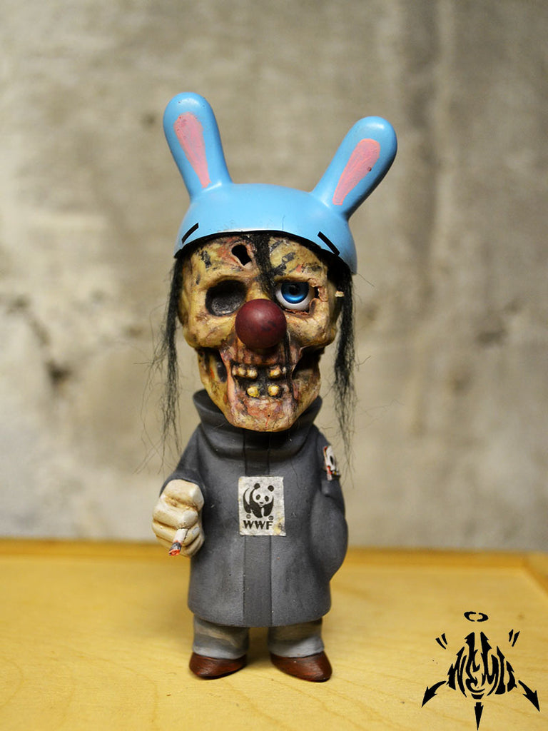 Mr Cankles Custom Dunny Gobi Mashup by Mike NEMO Mendez NEMO Custom Tenacious Toys®