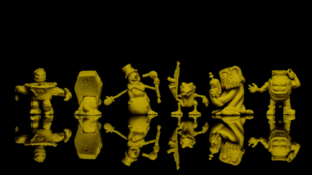 Run-A-Mucks Mini Figures Series 1 Yellow color by Last Resort Toys Last Resort Toys Vinyl Art Toy Tenacious Toys®