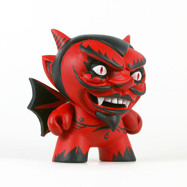 Hugh Rose The Damned Red Devil Custom Dunny Hugh Rose Custom Tenacious Toys®