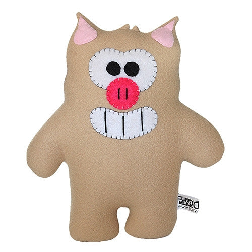 "Furry Feline Creatives Piga the Pig Plush 12"" Classic - Tenacious Toys® - 1"