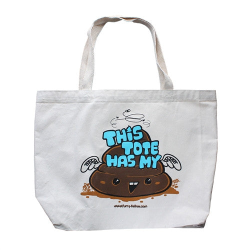 I Heart Poop Culture Tote Bag by Furry Feline Creatives - Tenacious Toys®