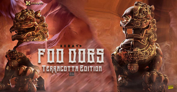 XXRAY Plus 8-inch Foo Dogs 2-piece set Terracotta Edition PREORDER