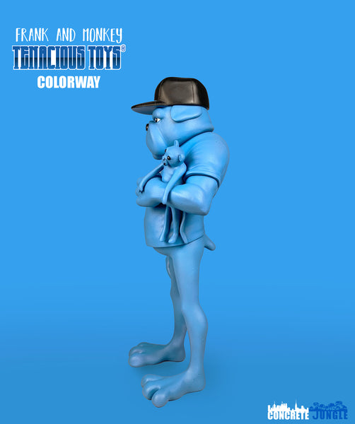 Frank and Monkey Blue edition 7-inch resin figure by Concrete Jungle Studio Concrete Jungle Resin Tenacious Toys®