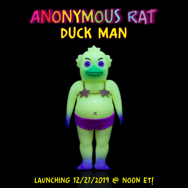 Duck Man GID 5.5-inch soft vinyl figure by Anonymous Rat