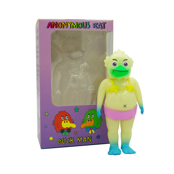 Duck Man GID 5.5-inch soft vinyl figure by Anonymous Rat Anonymous Rat Sofubi Tenacious Toys®