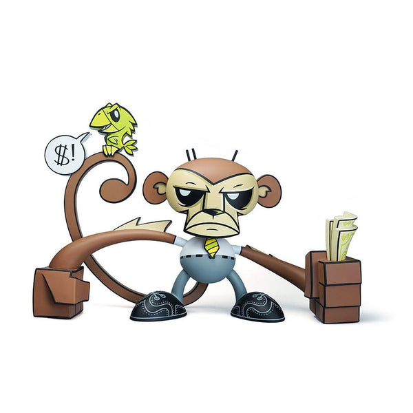 Joe Ledbetter Monkey Business Edition 8-inch vinyl art toy Joe Ledbetter Vinyl Art Toy Tenacious Toys®