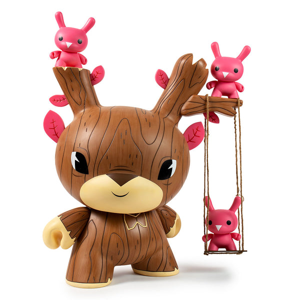 Kidrobot Autumn Stag Brown Edition 20-inch Dunny vinyl art toy by Gary Ham
