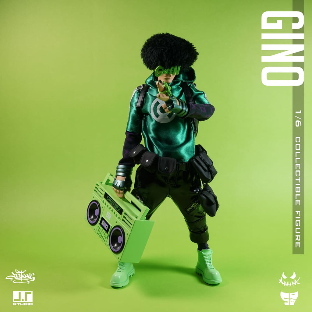 Gino 1/6-scale Street Mask action figure by JT Studio JT Studio Vinyl Art Toy Tenacious Toys®