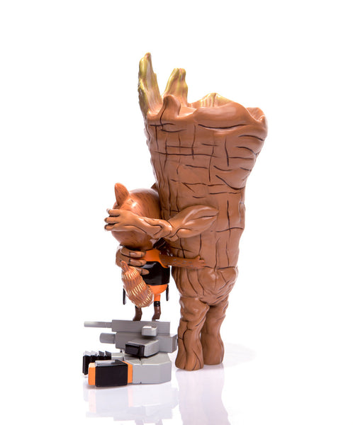 Guardians of the Galaxy Rocket & Groot: Treehugger 9-inch Vinyl Figure Mondo Tees Vinyl Art Toy Tenacious Toys®