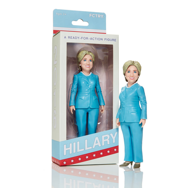 Hillary Clinton 6-inch Action Figure by FCTRY - Tenacious Toys®