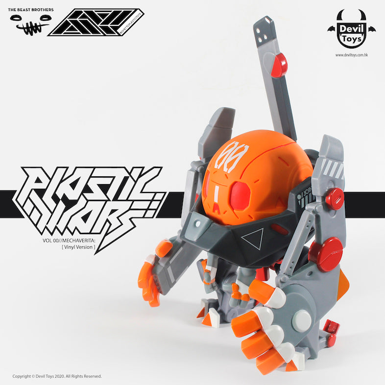 PLASTIC WARS VOL 00 MECHAVERITA Vinyl Version by Beast Bros x Ghetto Plastic x DevilToys PREORDER ships Q3 2020 Devil Toys Vinyl Art Toy Tenacious Toys®