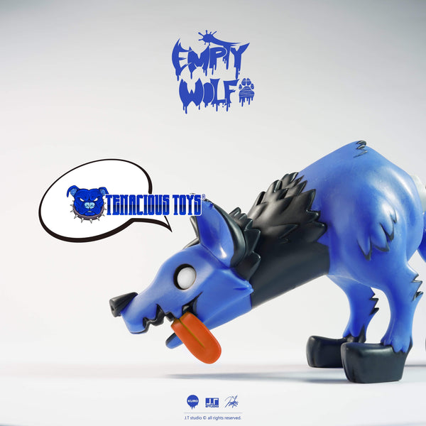 Empty Wolf Blue Edition 7-inch figure by JT Studio (NYCC Exclusive) JT Studio Vinyl Art Toy Tenacious Toys®