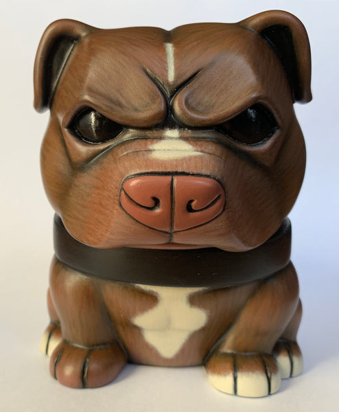 Rednose Pitbull Danger Dog 5-inch Custom by SokoCat [SOLD]