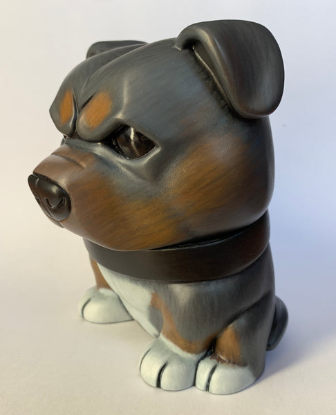 Tricolor Pitbull Danger Dog 5-inch Custom by SokoCat Tenacious Toys Vinyl Art Toy Tenacious Toys®