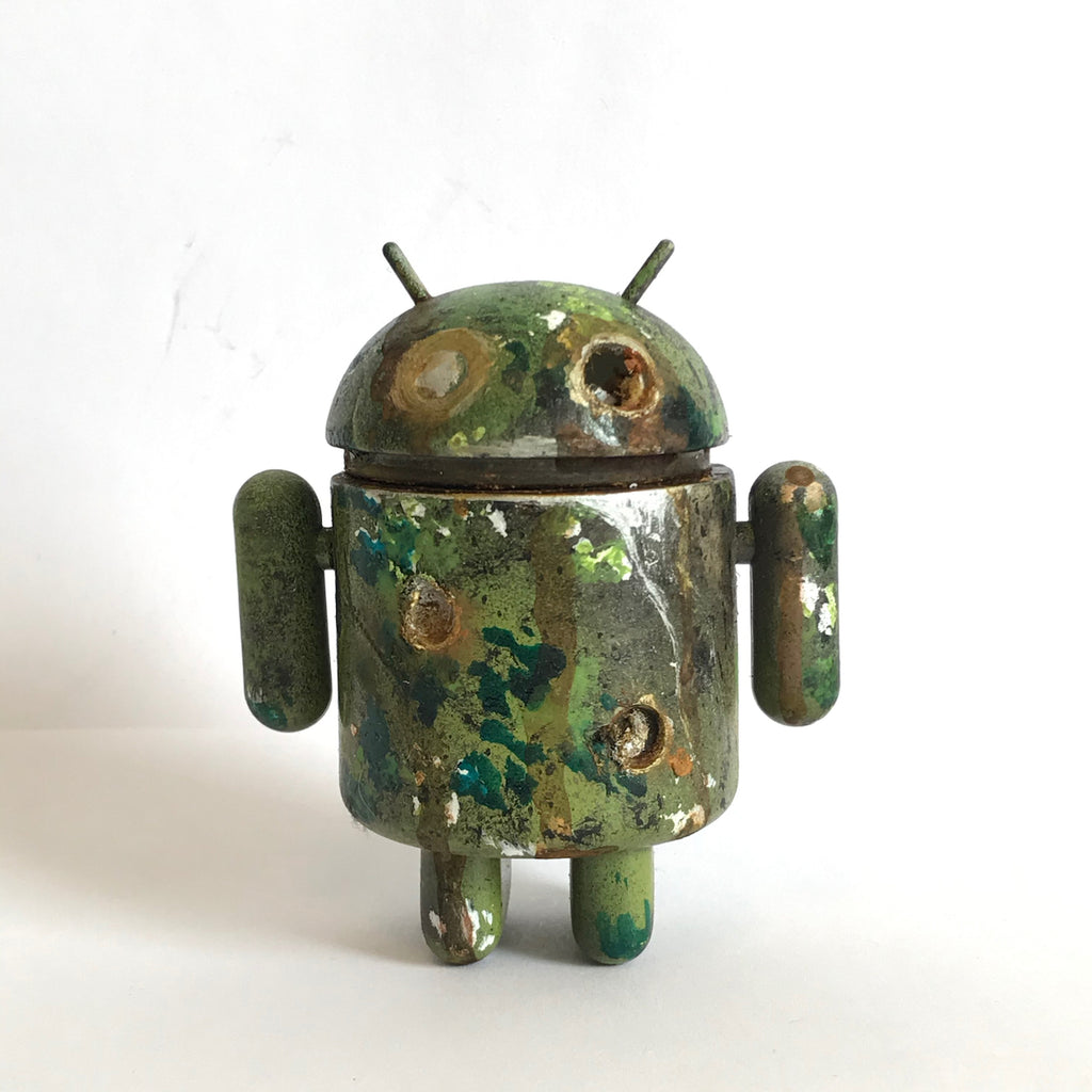 Mr Munk Custom 3-inch Android Green Camo with Bullet Holes vendor-unknown Custom Tenacious Toys®