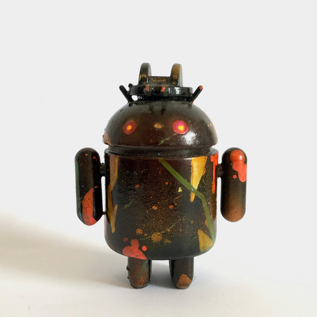 Mr Munk Custom 3-inch Android Brown with Head-Mounted Guns vendor-unknown Custom Tenacious Toys®