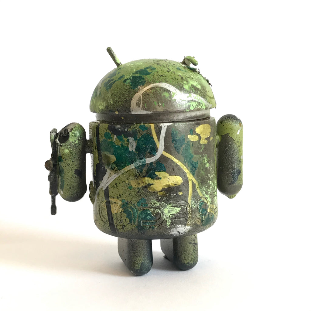 Mr Munk Custom 3-inch Android Green Camo with Gun Arm vendor-unknown Custom Tenacious Toys®