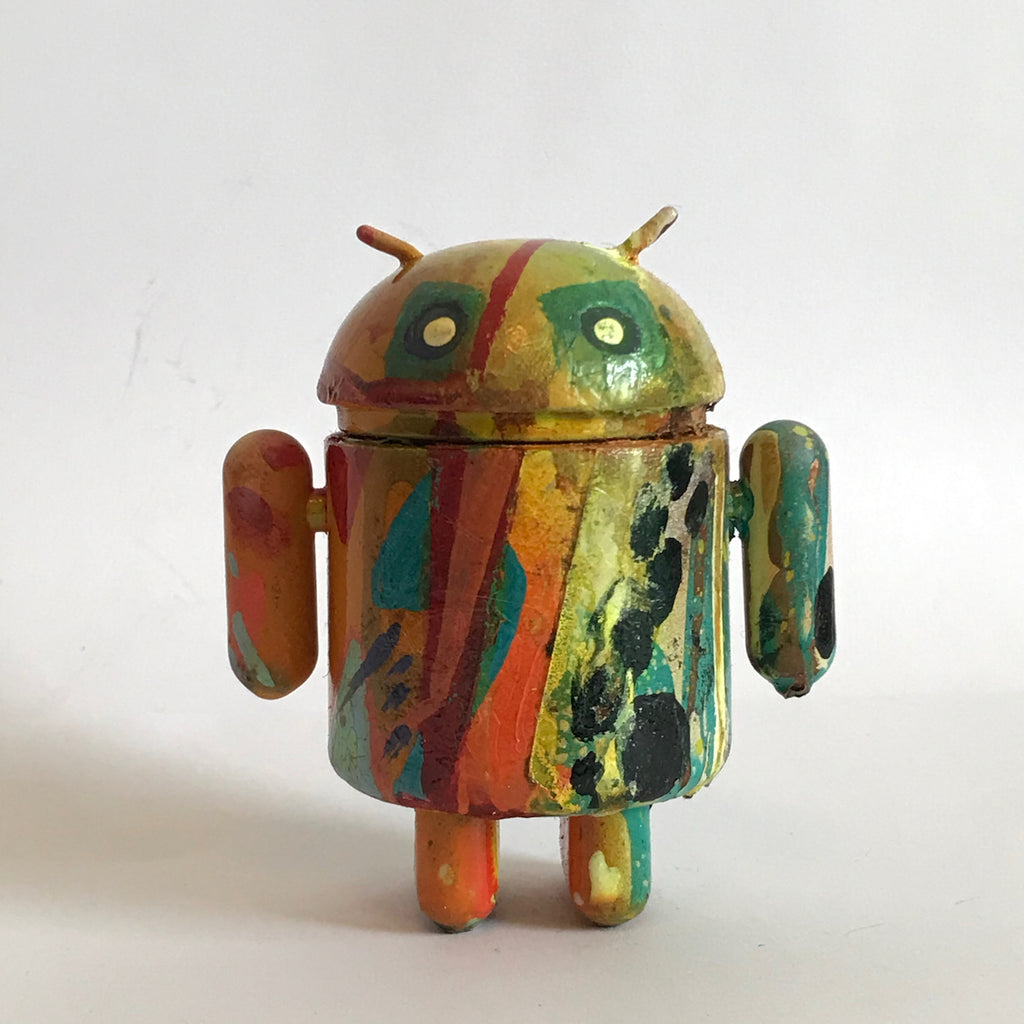 Mr Munk Custom 3-inch Android Multicolored with Eye Squares vendor-unknown Custom Tenacious Toys®