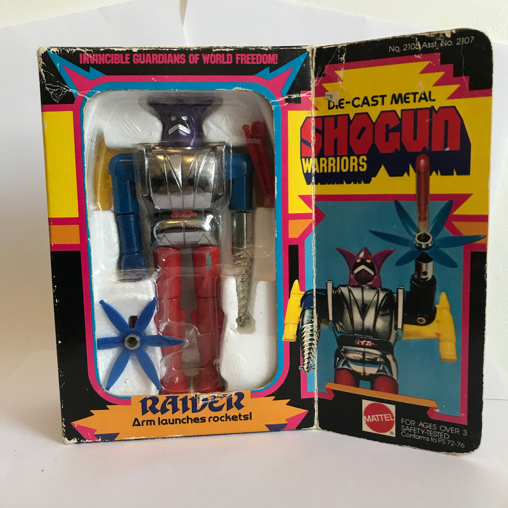 Shogun Warriors Raider Die-Cast Metal Mattel 1977 from Mr Munk 3A collection MUNK-019 3A Vinyl Art Toy Tenacious Toys®
