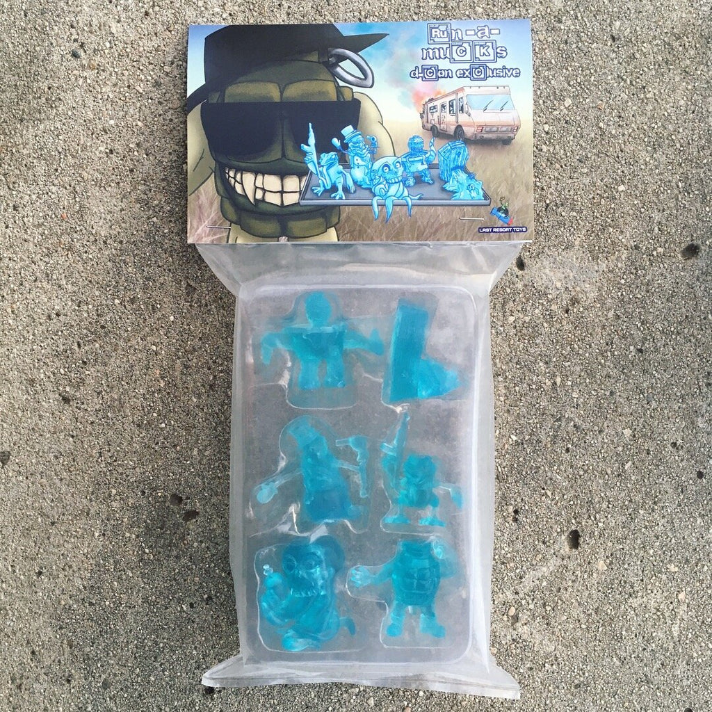 Run-A-Mucks Mini Figures Series 1 Crystal Blue color by Last Resort Toys Last Resort Toys Vinyl Art Toy Tenacious Toys®