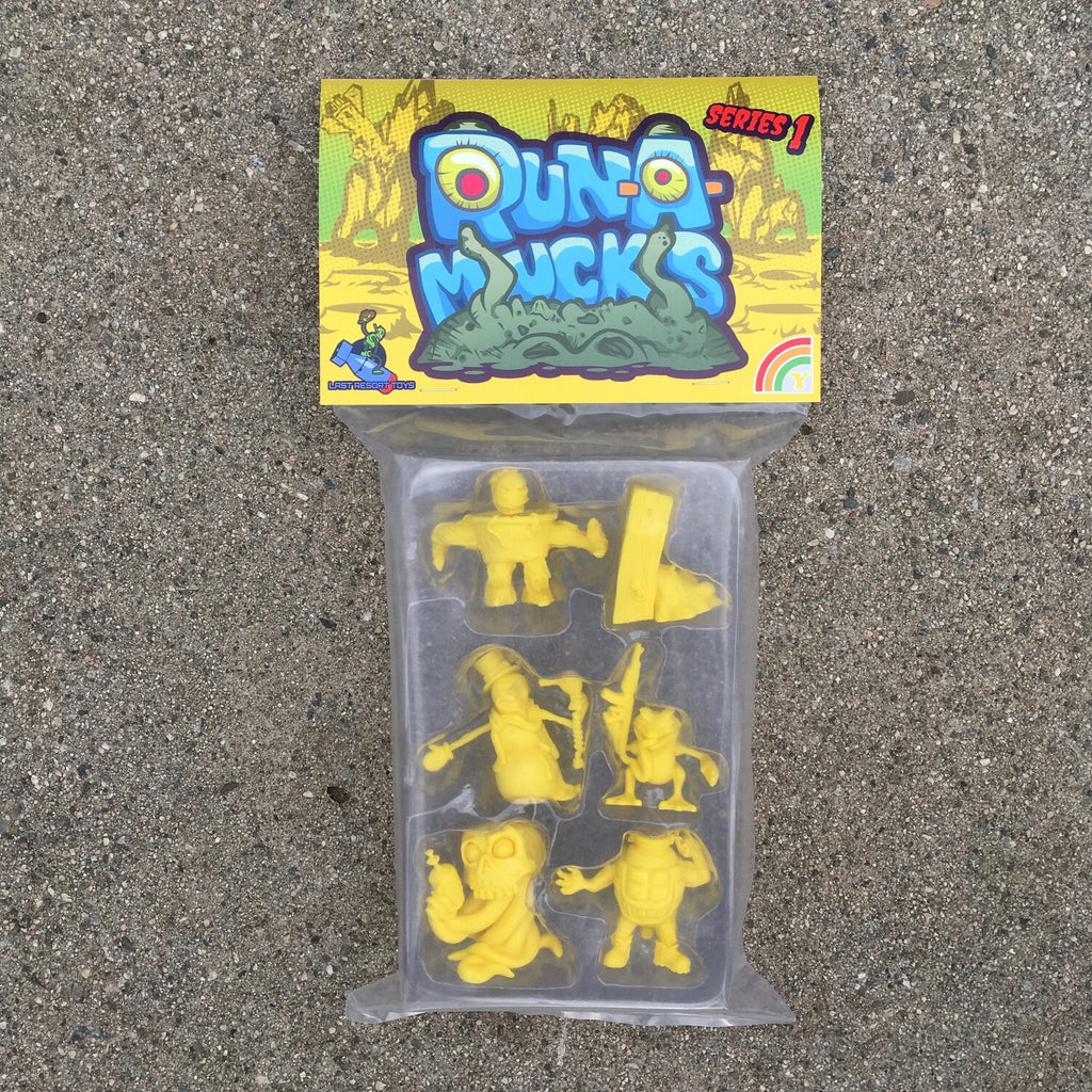 Run-A-Mucks Mini Figures Series 1 Yellow color by Last Resort Toys