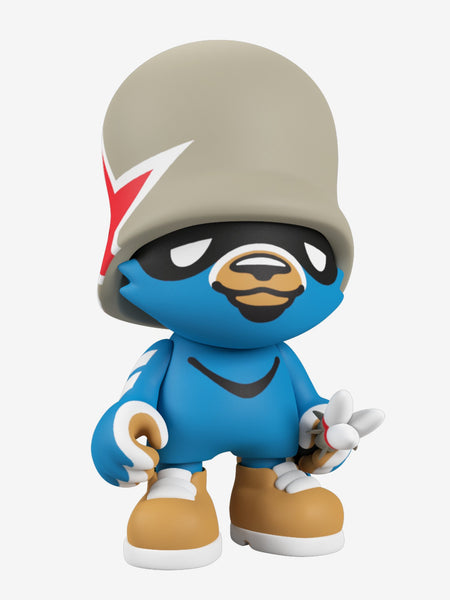 JankyFortress Blue 8-inch SuperJanky vinyl figure by Flying Fortress x Superplastic PREORDER Superplastic Vinyl Art Toy Tenacious Toys®