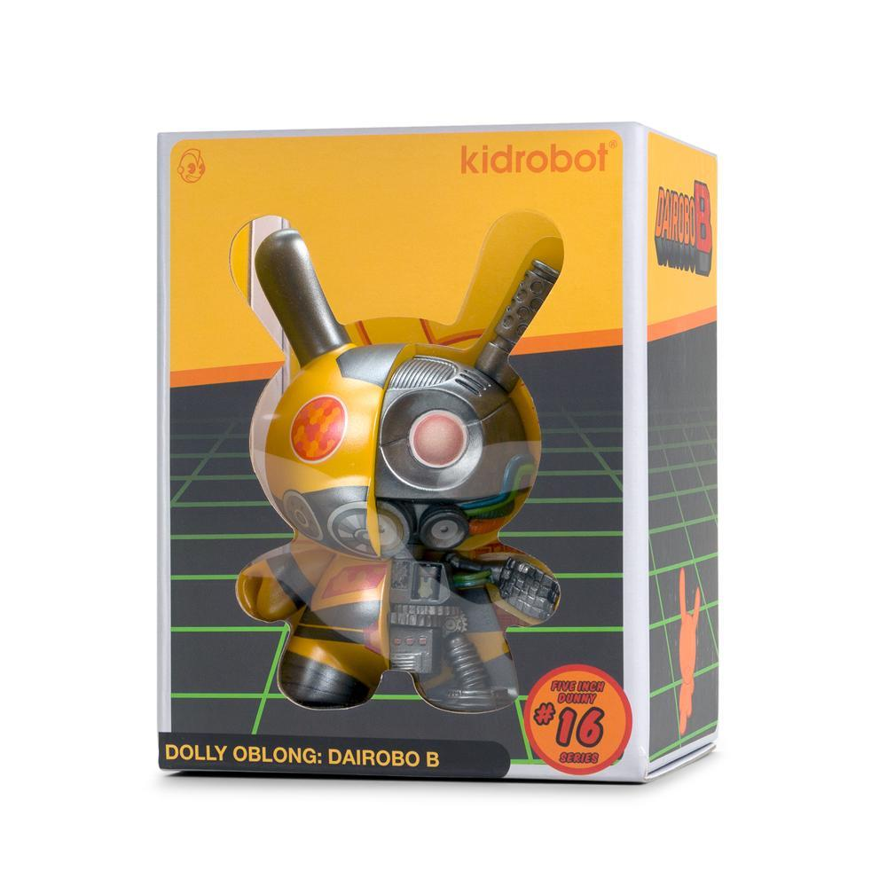Dolly Oblong Dairobo-B Mecha Half Ray 5-inch Dunny Yellow by Kidrobot Kidrobot Vinyl Art Toy Tenacious Toys®