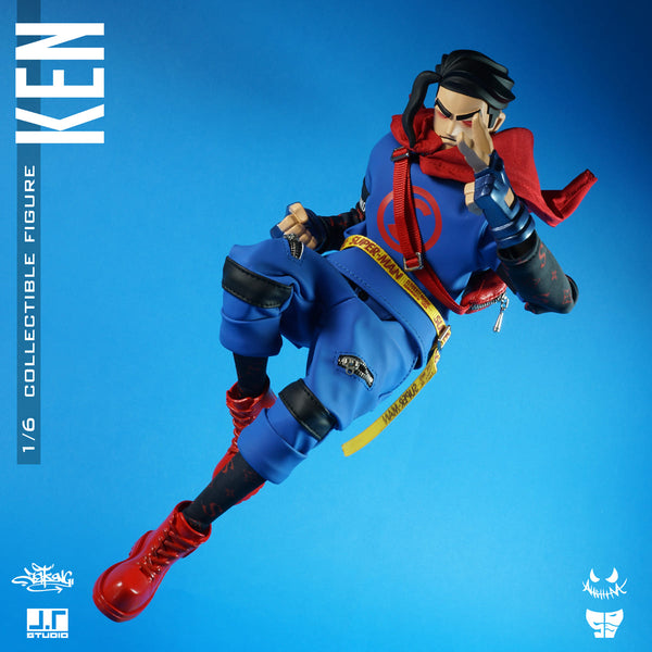 Ken 1/6-scale Street Mask action figure by JT Studio JT Studio Vinyl Art Toy Tenacious Toys®