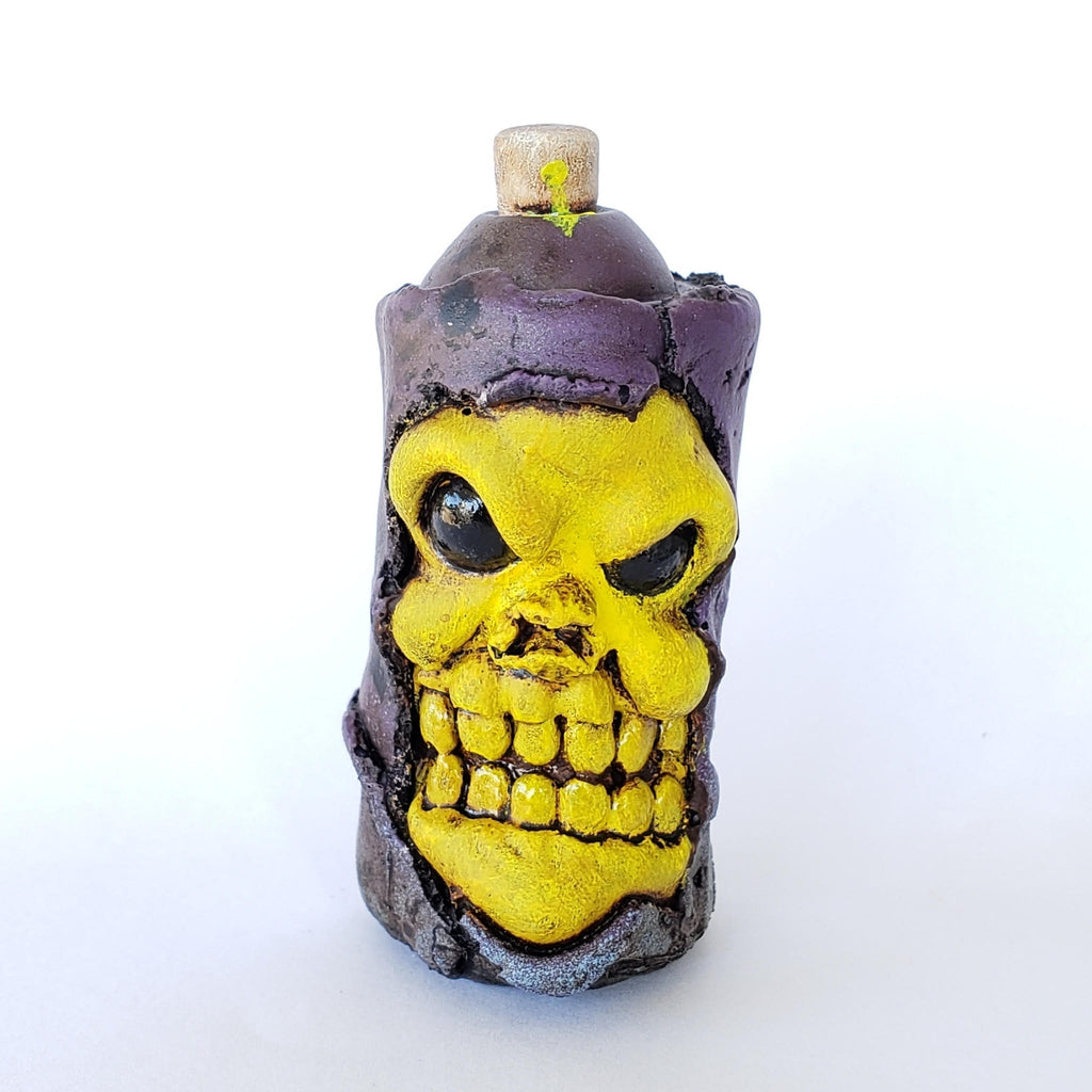 Large Can Greyskull Skeletor 2.5-inch resin by Big C Big C Resin Tenacious Toys®
