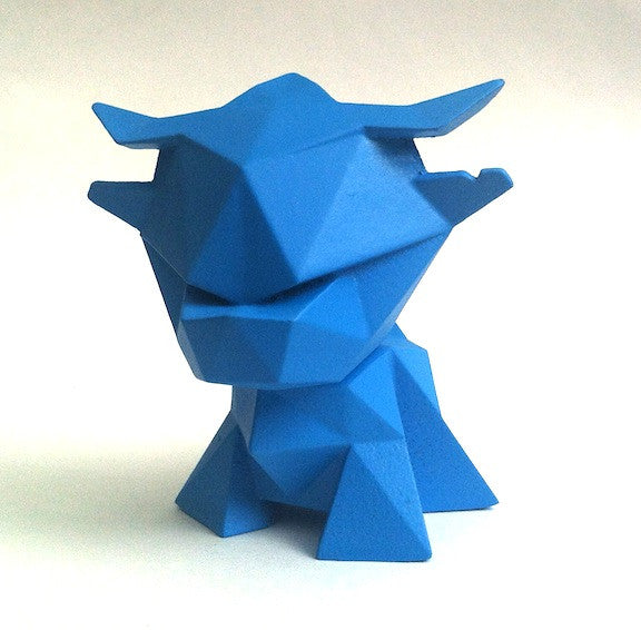 Little Ox Exclusive Blue Resin Figure by alto x Creo Design - Tenacious Toys® - 1