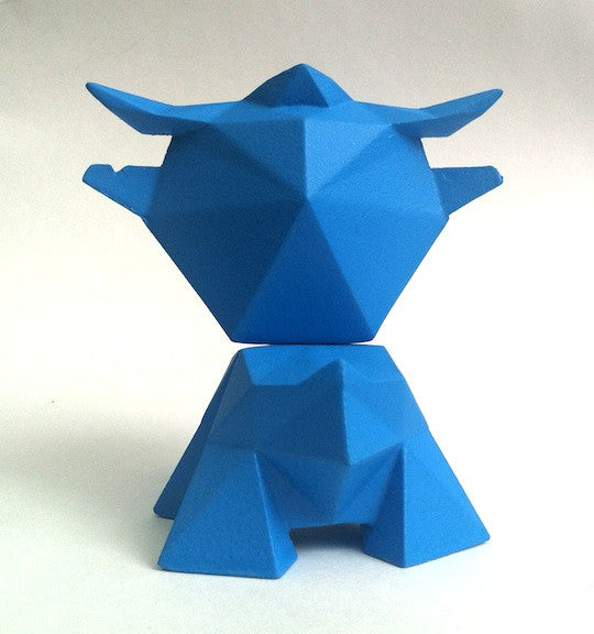 Little Ox Exclusive Blue Resin Figure by alto x Creo Design - Tenacious Toys® - 3